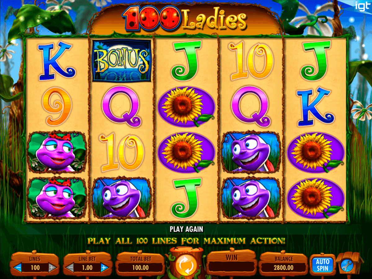 100 ladies igt machine a sous