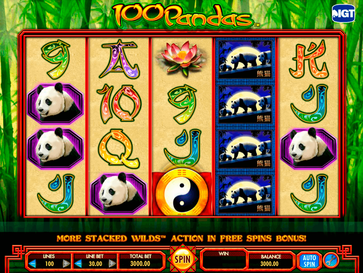 100 pandas igt machine a sous
