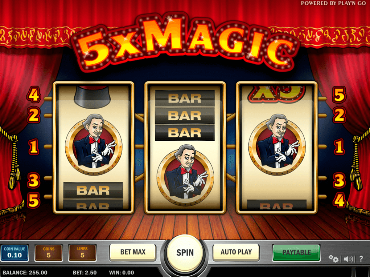 5x magic playn go machine a sous