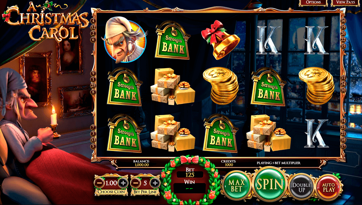 A christmas carol betsoft machine a sous