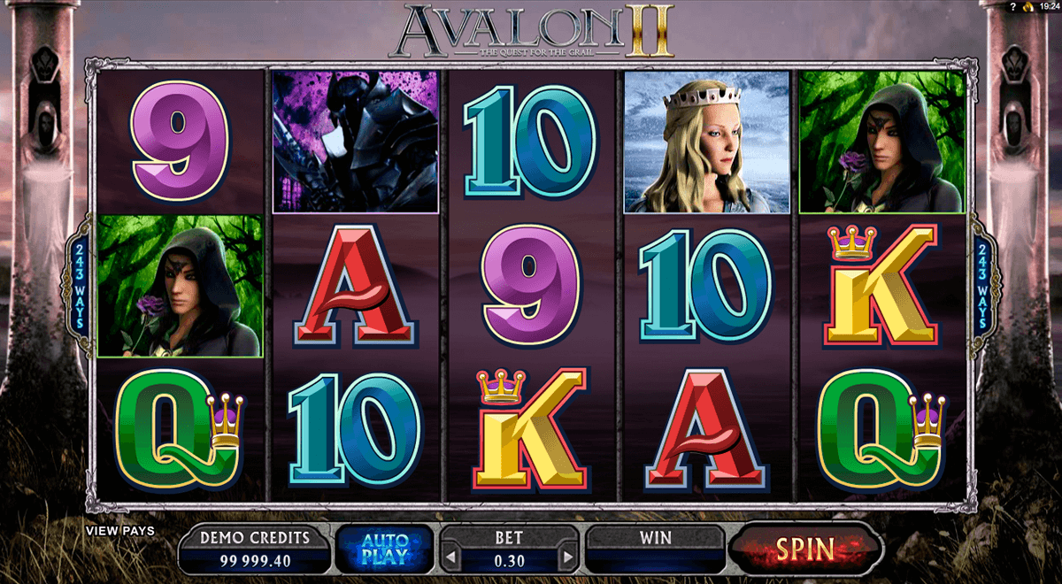 Avalon ii microgaming machine a sous
