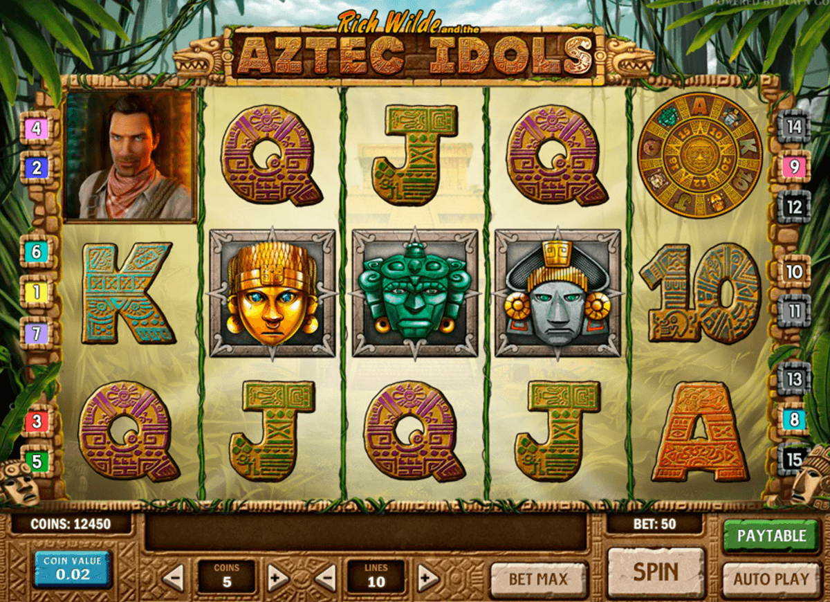 aztec idols playn go machine a sous