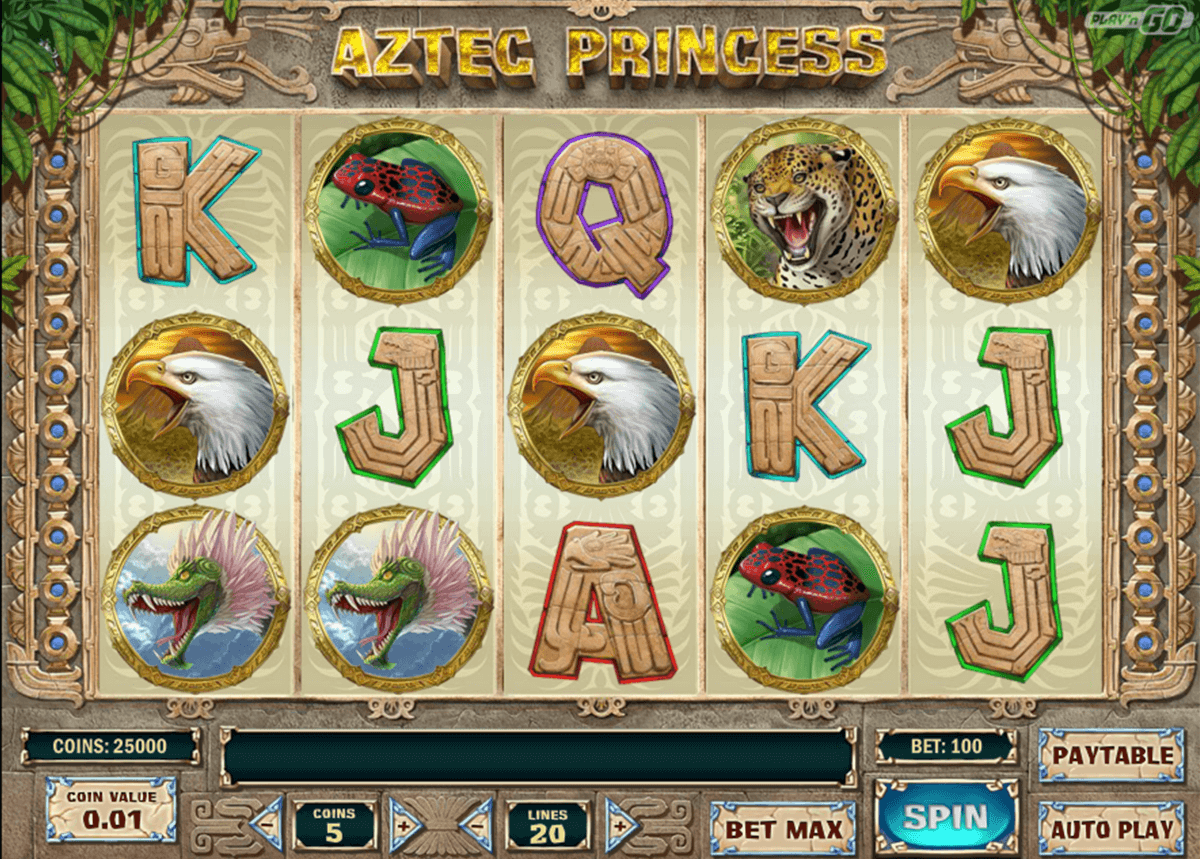 Aztec princess playn go machine a sous