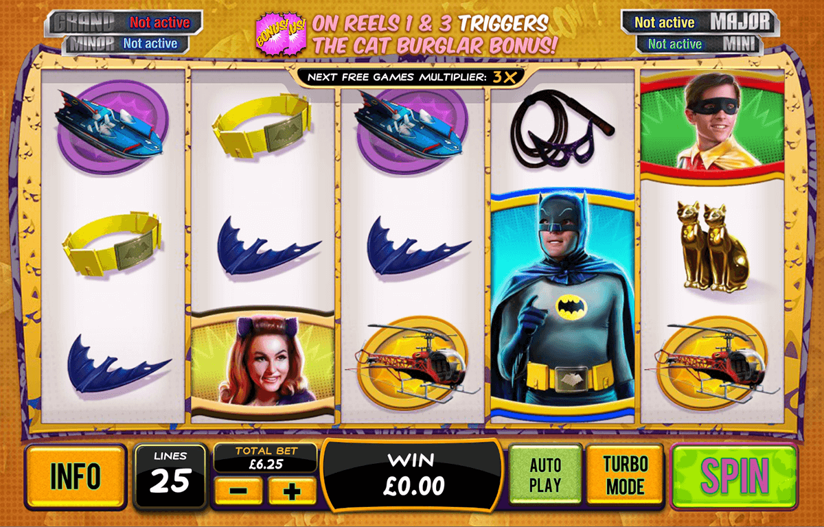 Batman catwoman cash playtech machine a sous