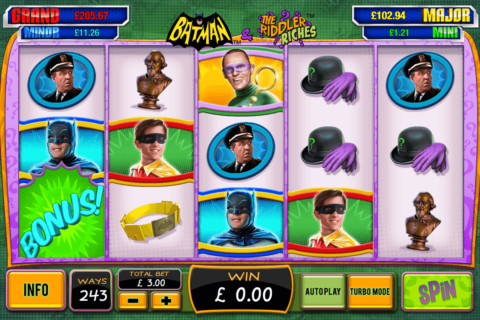 Batman the riddler riches playtech machine a sous