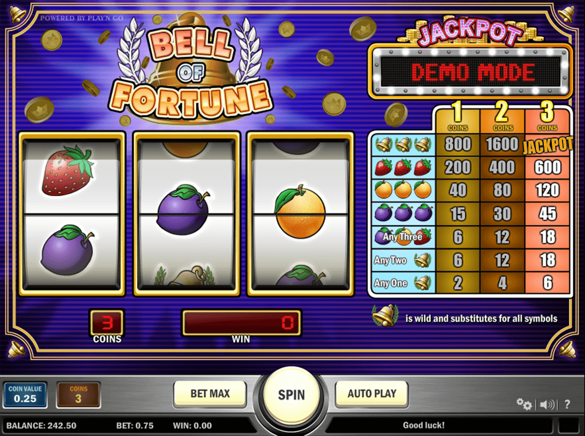 Bell of fortune playn go machine a sous