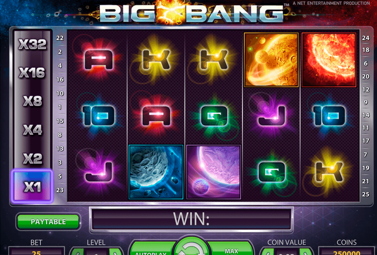 Big bang netent machine a sous