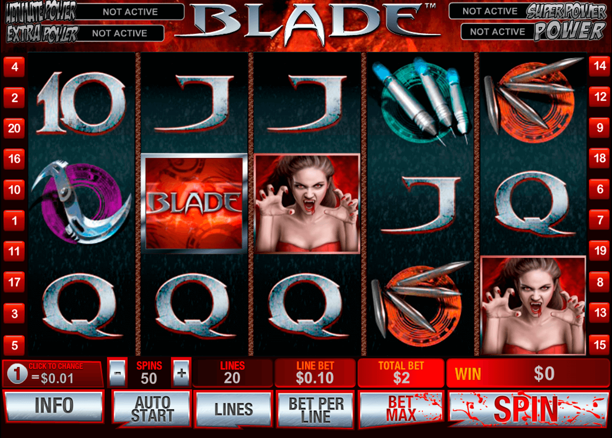 Blade playtech machine a sous