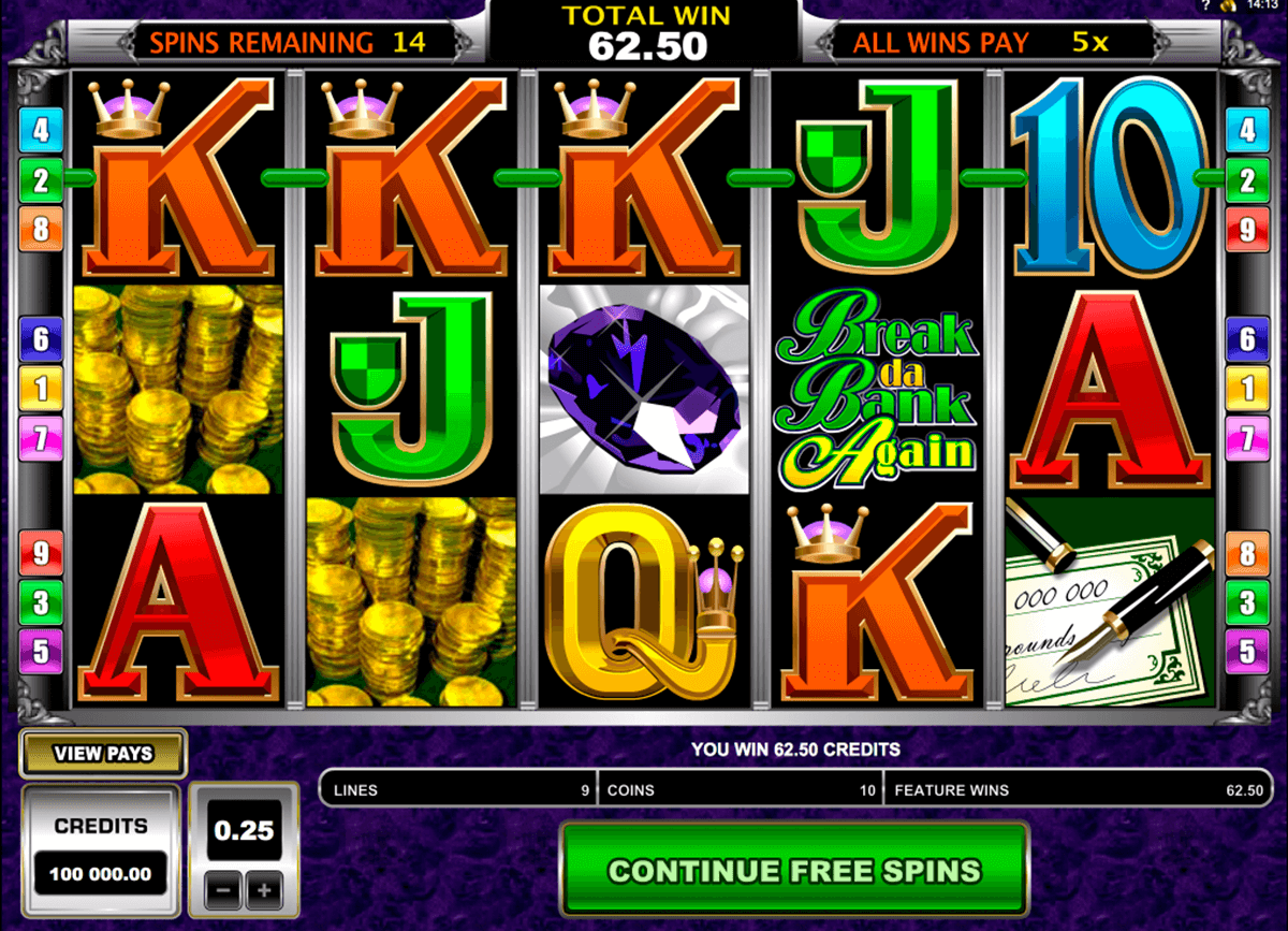 Break da bank again microgaming machine a sous