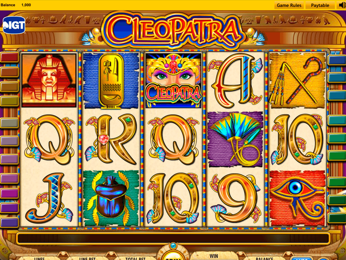 cleopatra igt machine a sous
