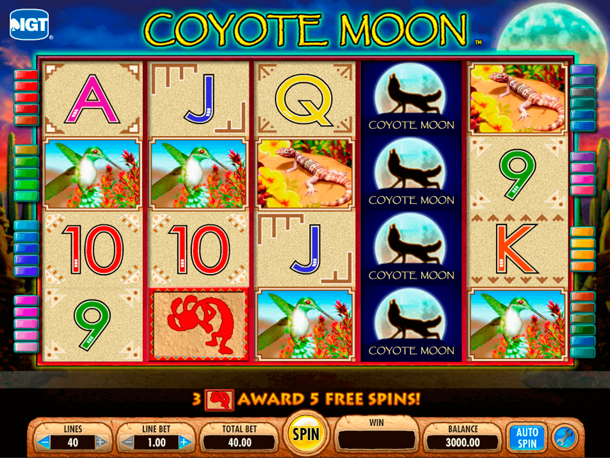 coyote moon igt machine a sous