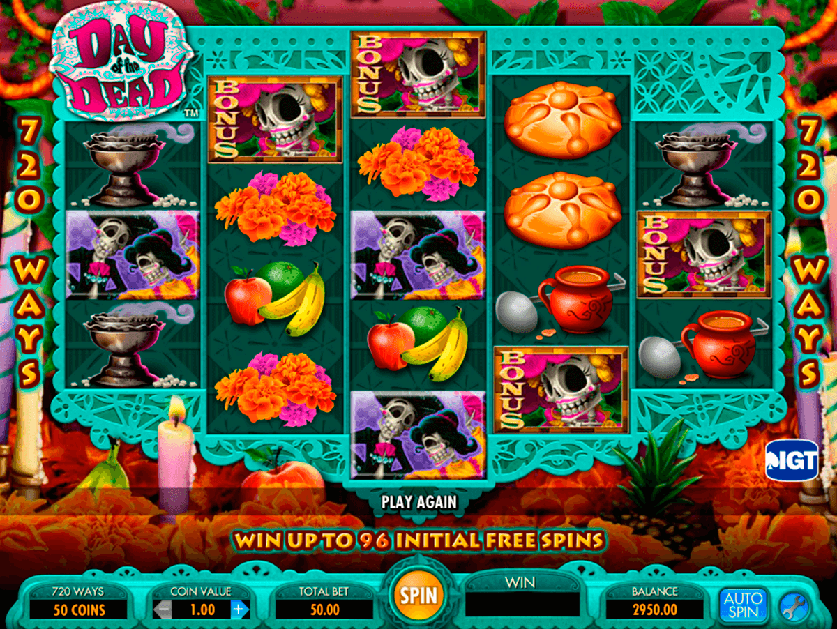 Day of the dead igt machine a sous