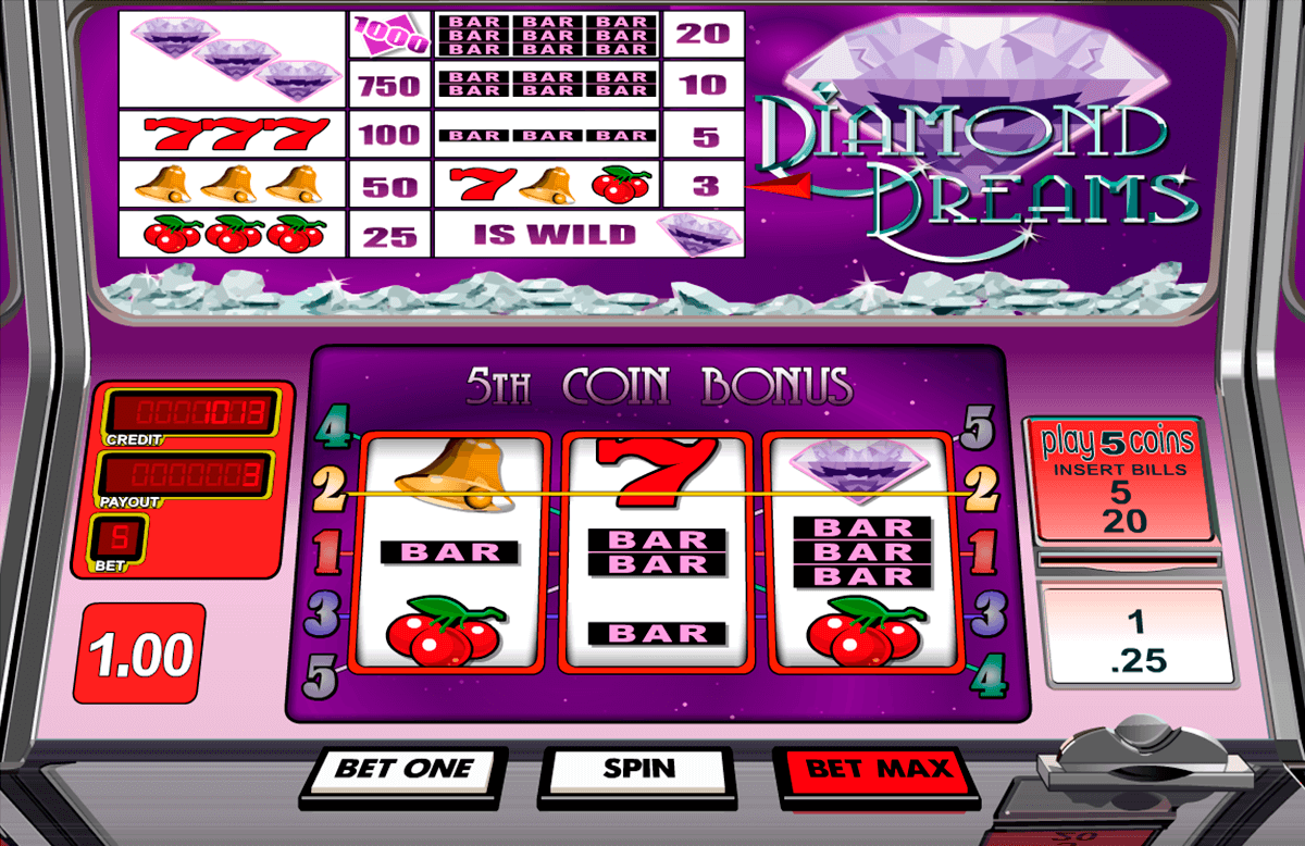 diamond dreams betsoft machine a sous