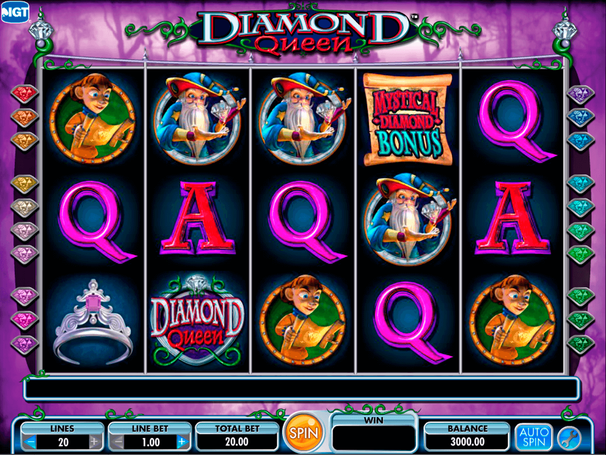 diamond queen igt machine a sous