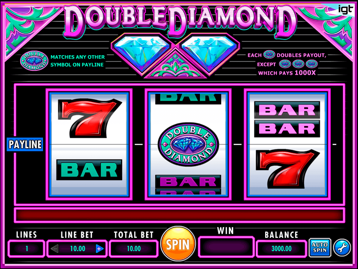 Double diamond igt machine a sous