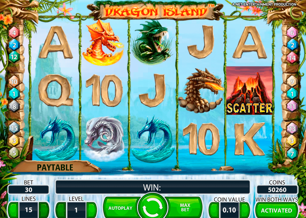 dragon island netent machine a sous