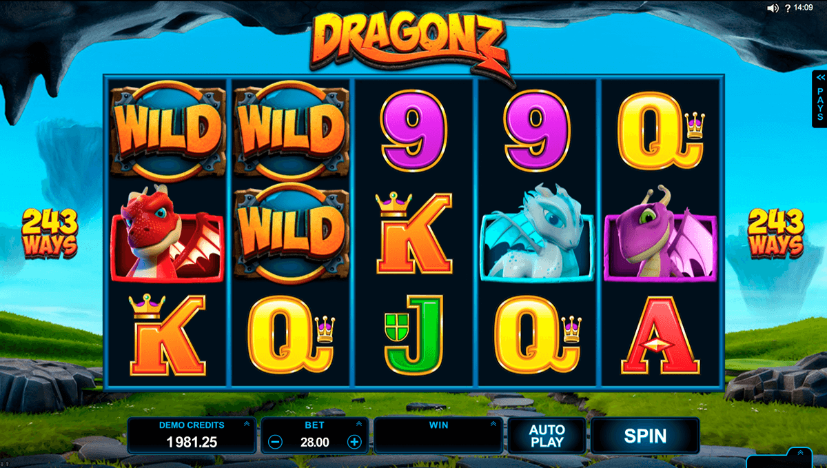 Dragonz microgaming machine a sous