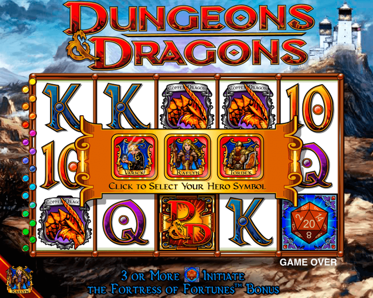 Dungeons and dragons igt machine a sous