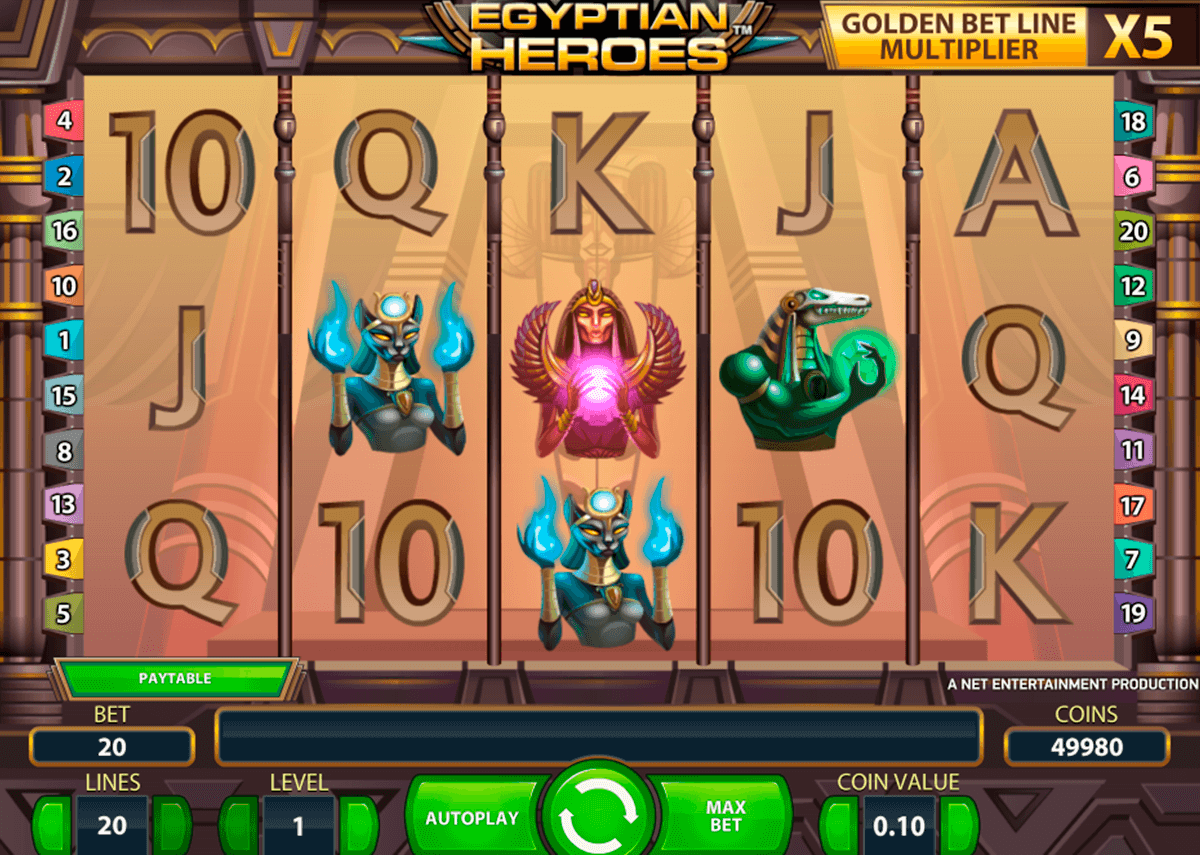 Egyptian heroes netent machine a sous