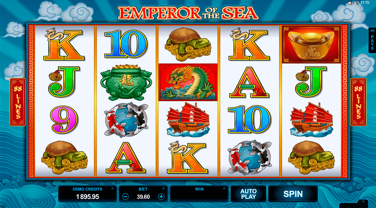 emperor of the sea microgaming machine a sous