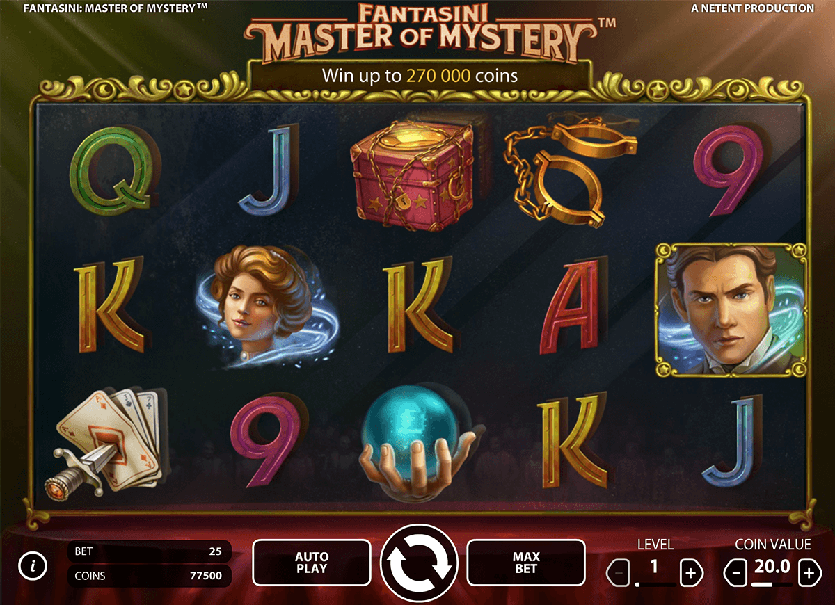 Fantasini master of mystery netent machine a sous