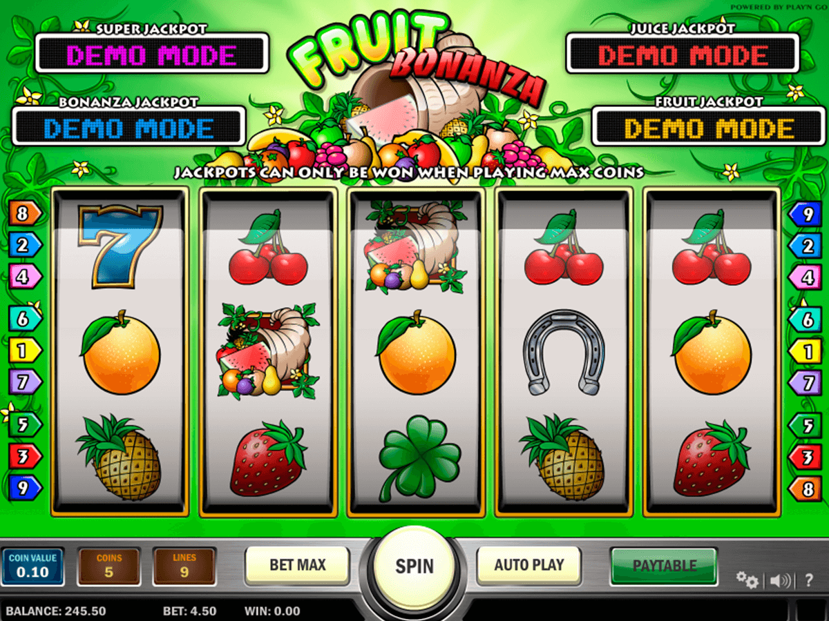 Fruit bonanza playn go machine a sous