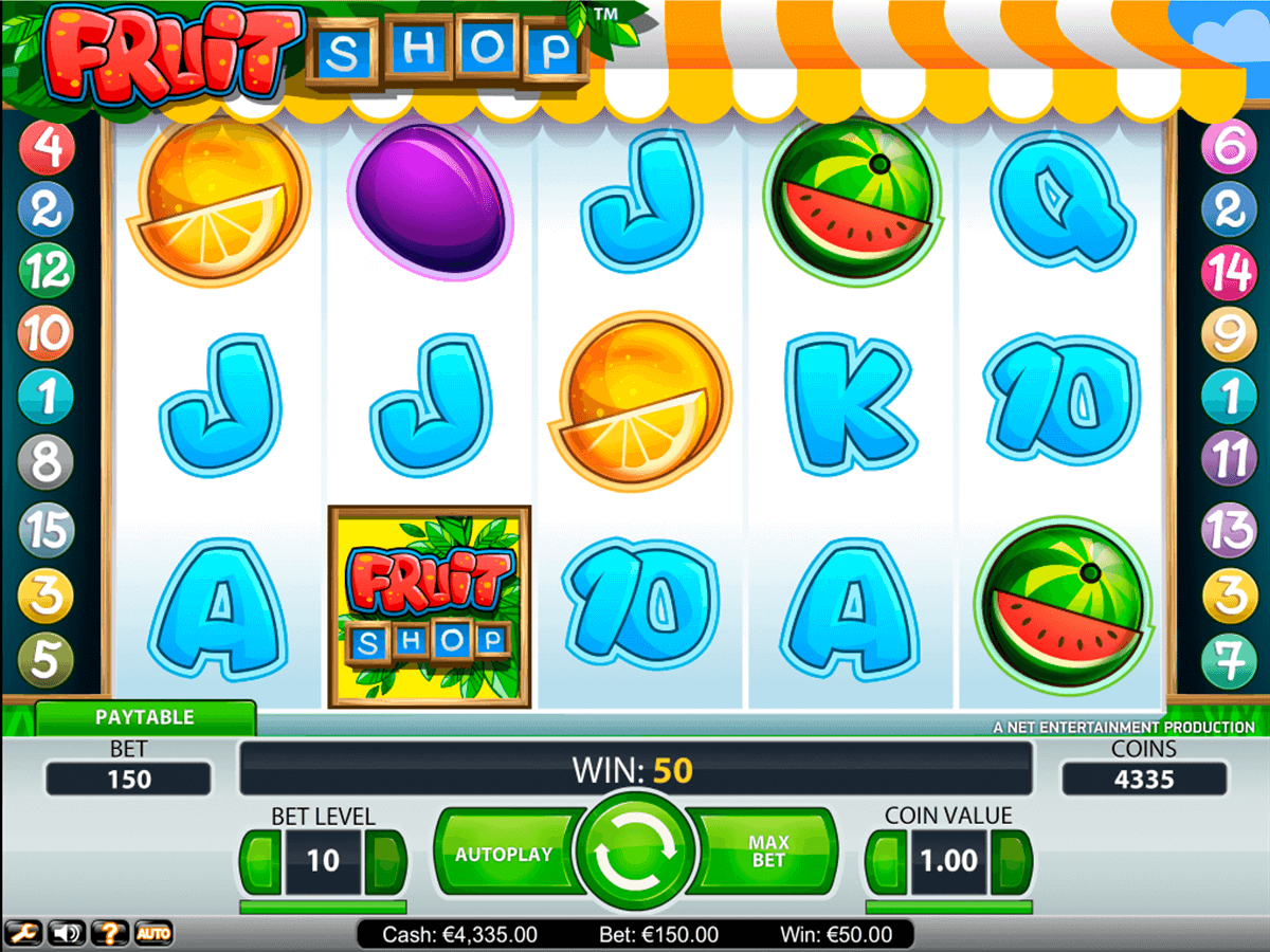 Fruit shop netent machine a sous