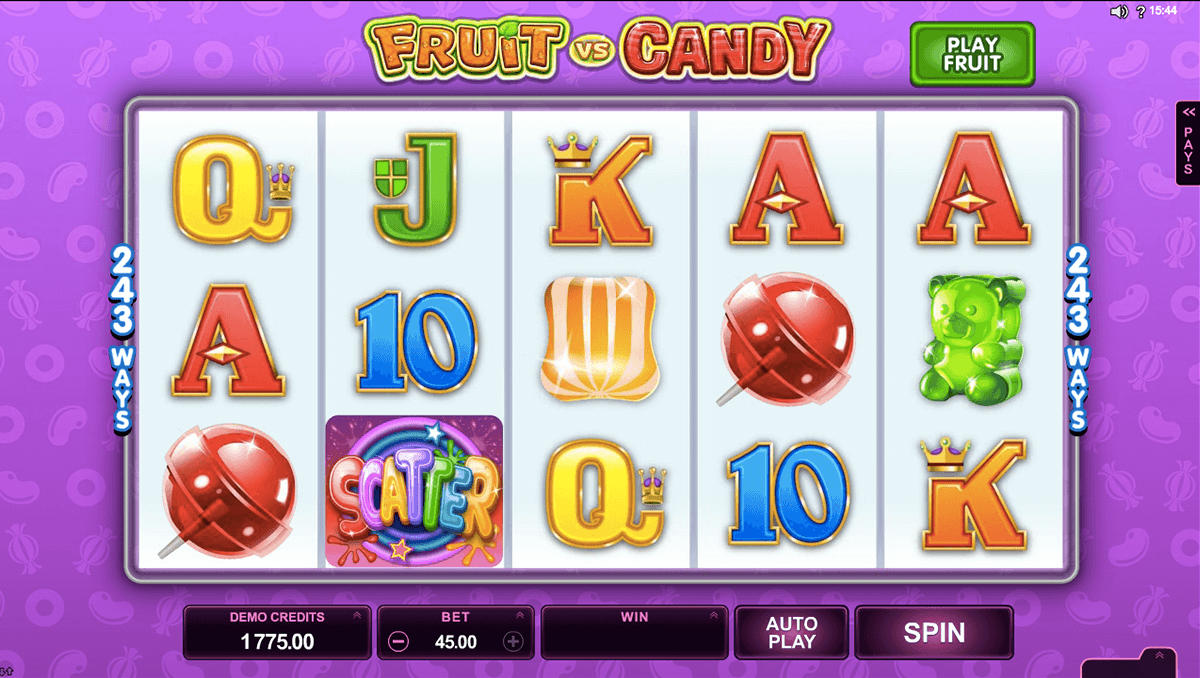 Fruit vs candy microgaming machine a sous