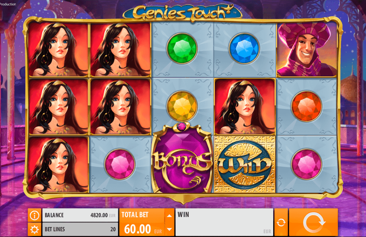 genies touch quickspin machine a sous