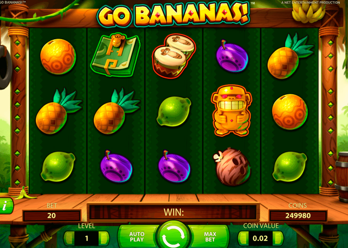 Go bananas netent machine a sous
