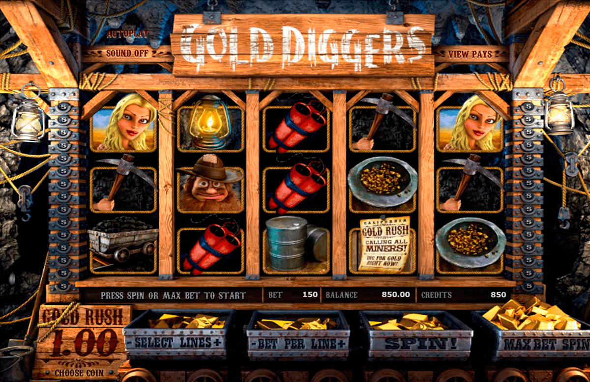 Gold diggers betsoft machine a sous