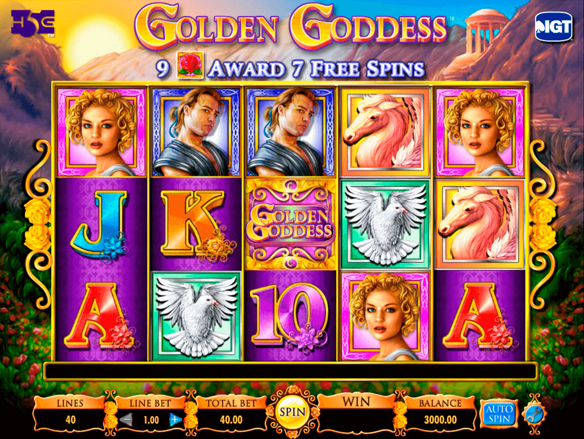 Golden goddess igt machine a sous