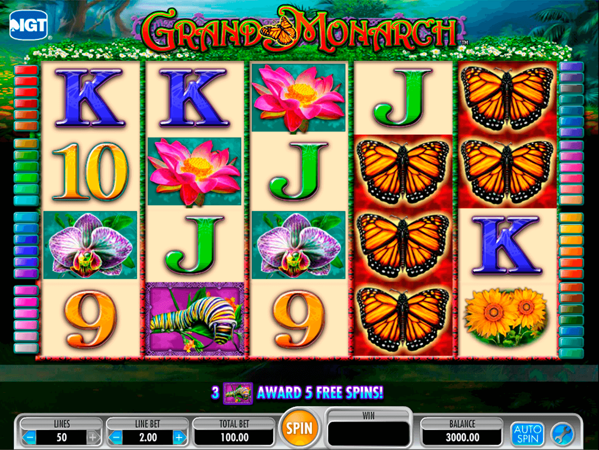 Grand monarch igt machine a sous