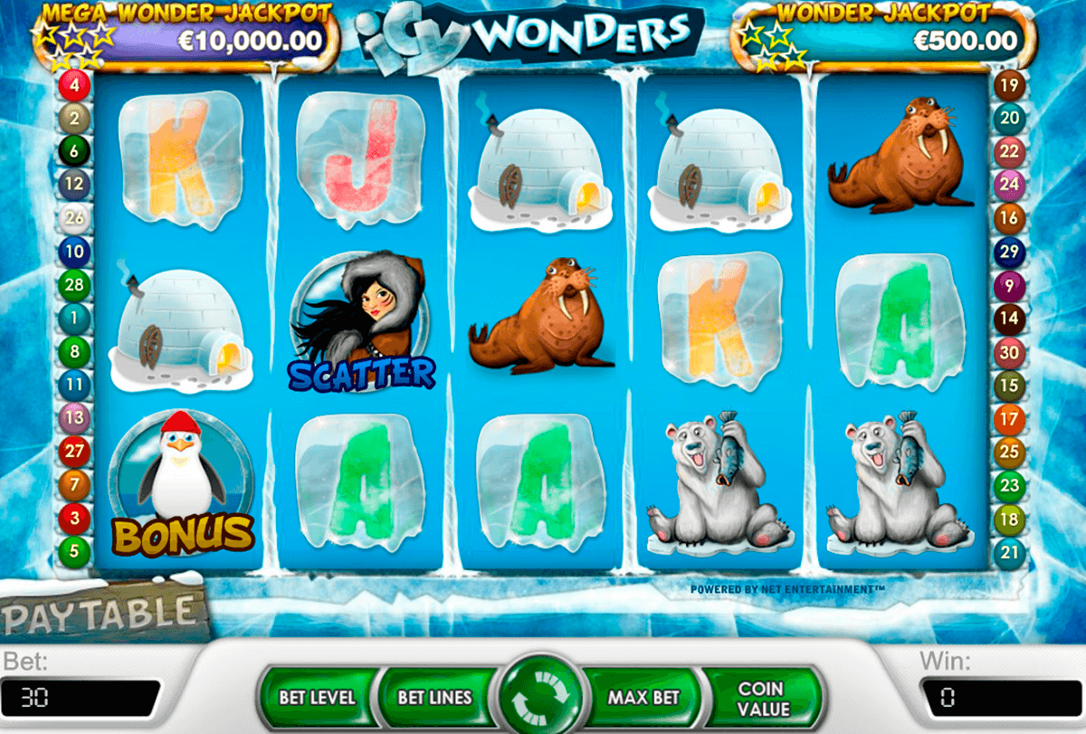 Icy wonders netent machine a sous