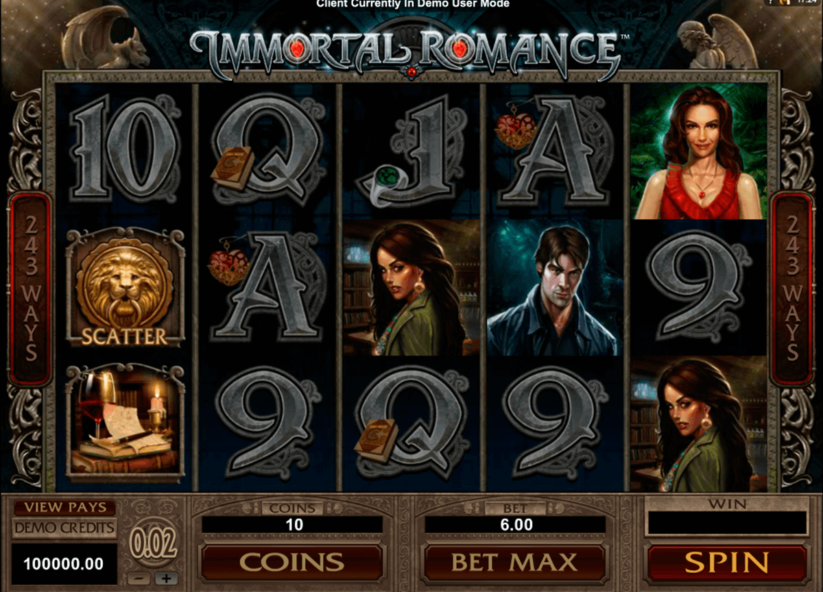 Immortal romance microgaming machine a sous