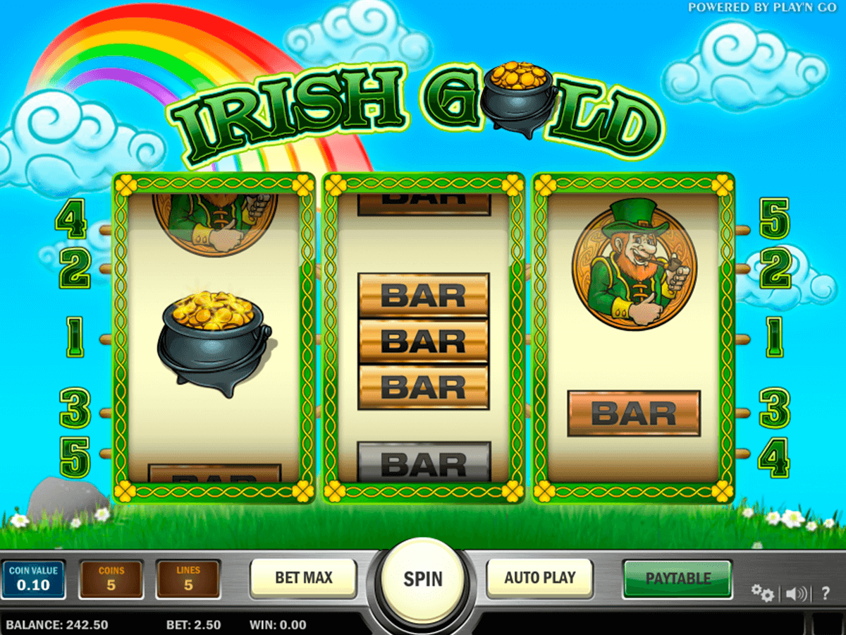 irish gold playn go machine a sous