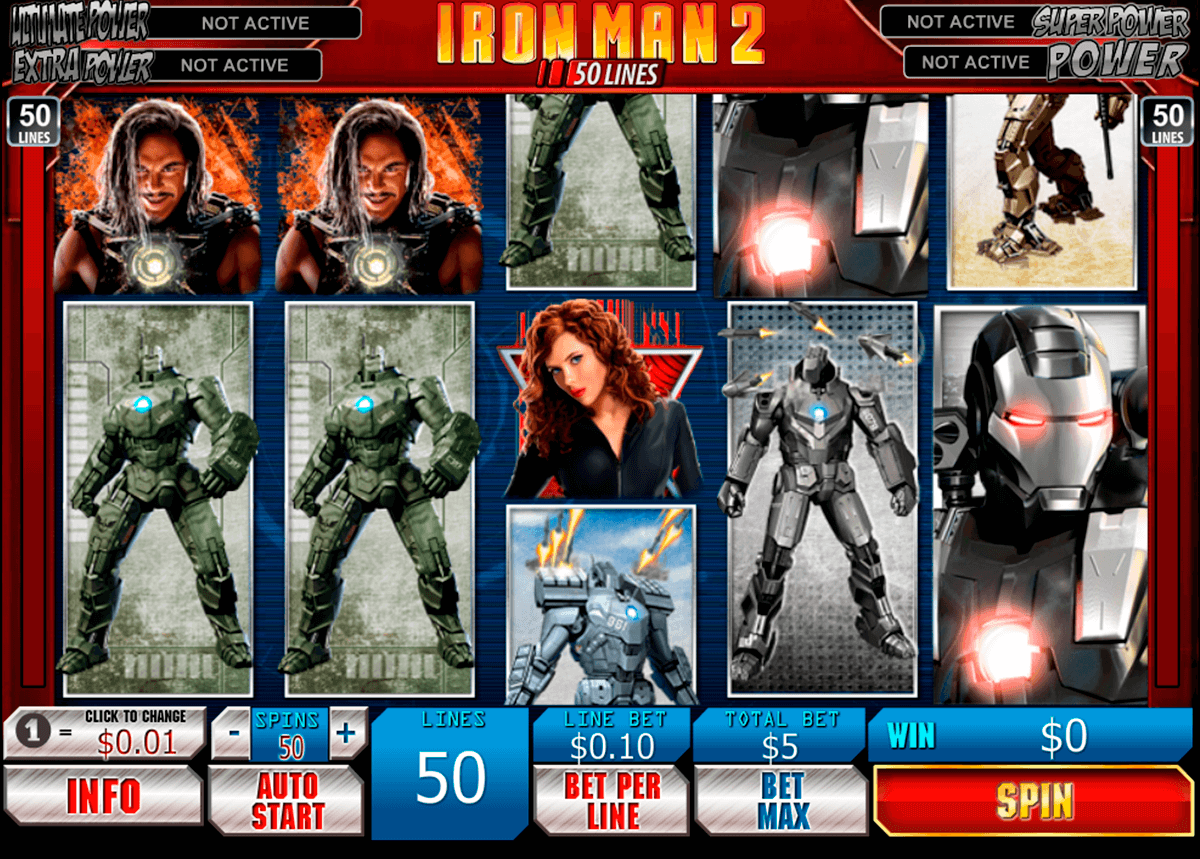 Iron man 2 50 lines playtech machine a sous