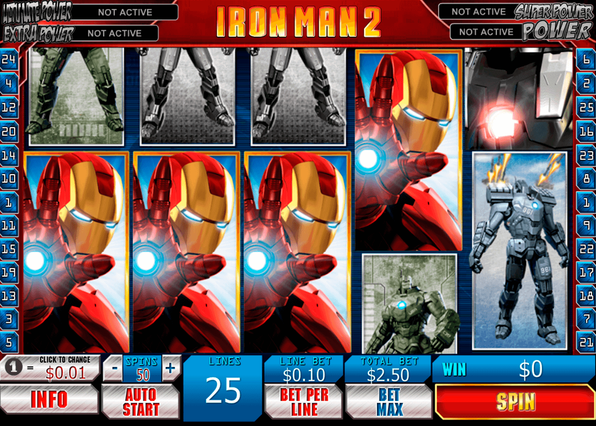 iron man 2 playtech machine a sous