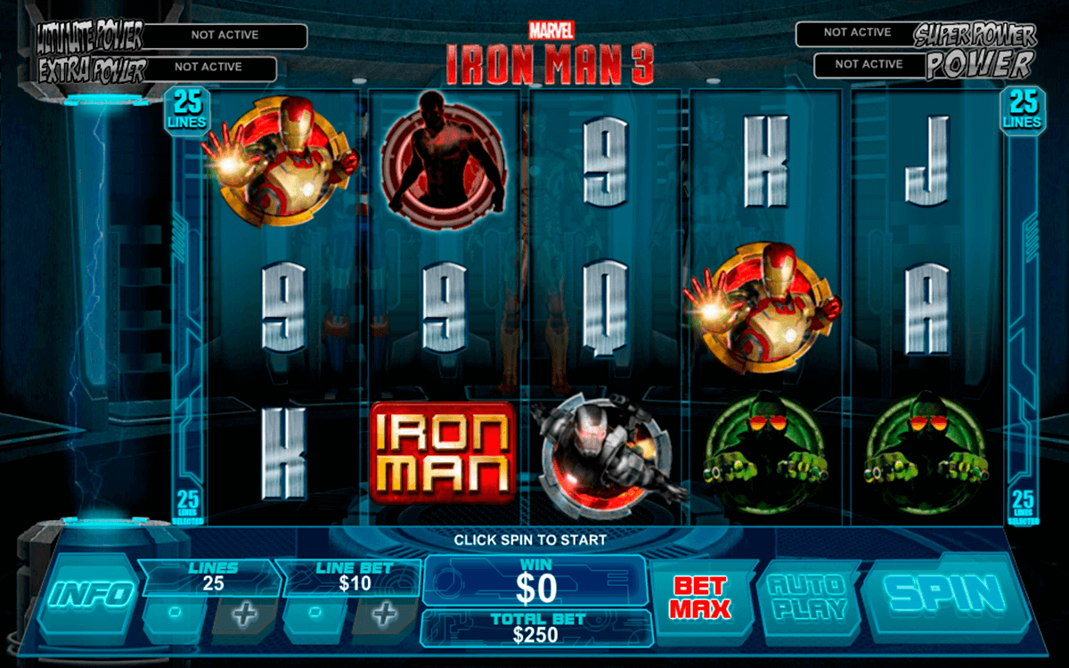 Iron man 3 playtech machine a sous