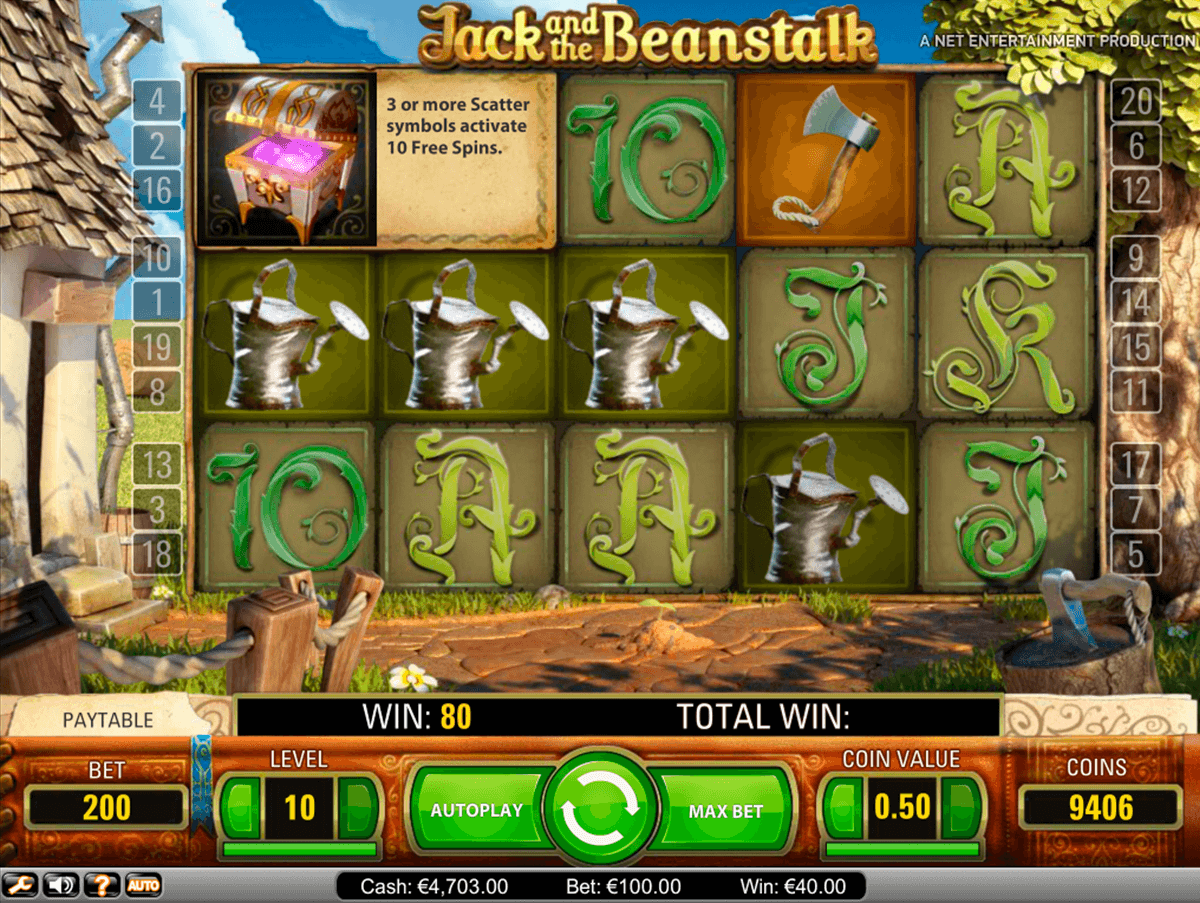 jack and the beanstalk netent machine a sous