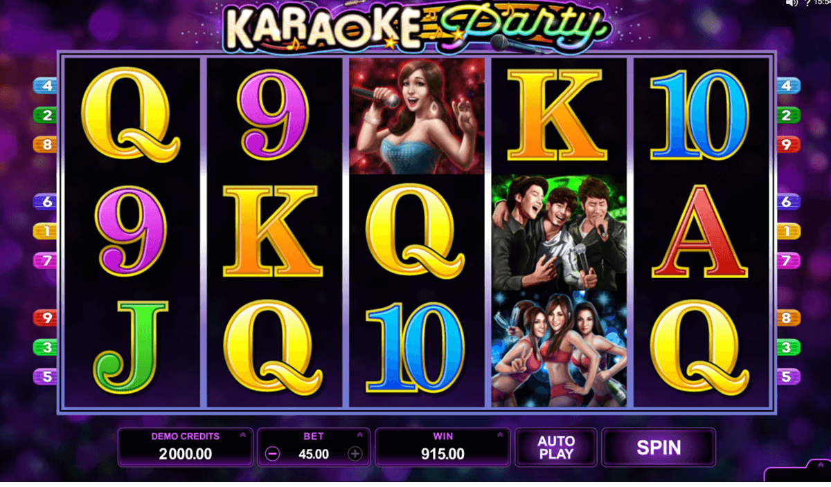karaoke party microgaming machine a sous