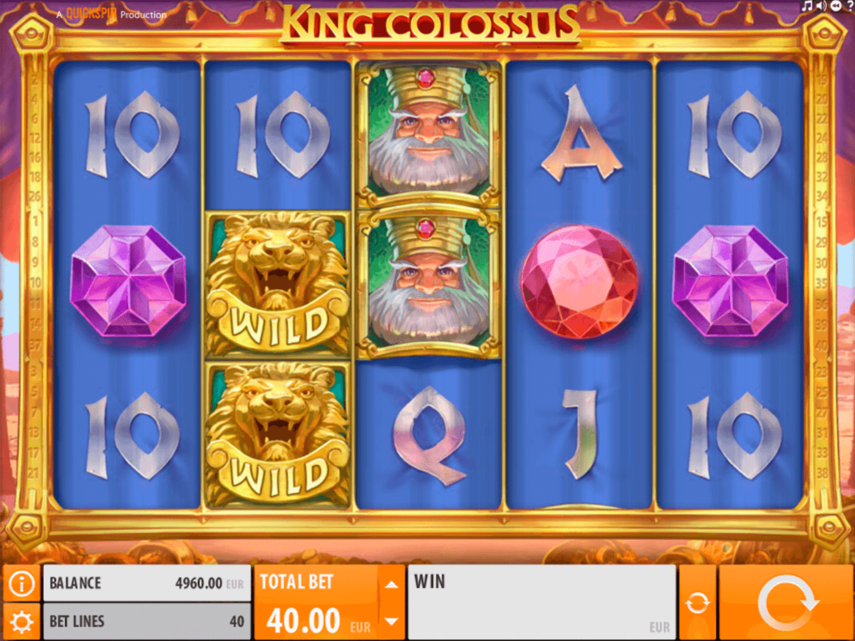 King colossus quickspin machine a sous