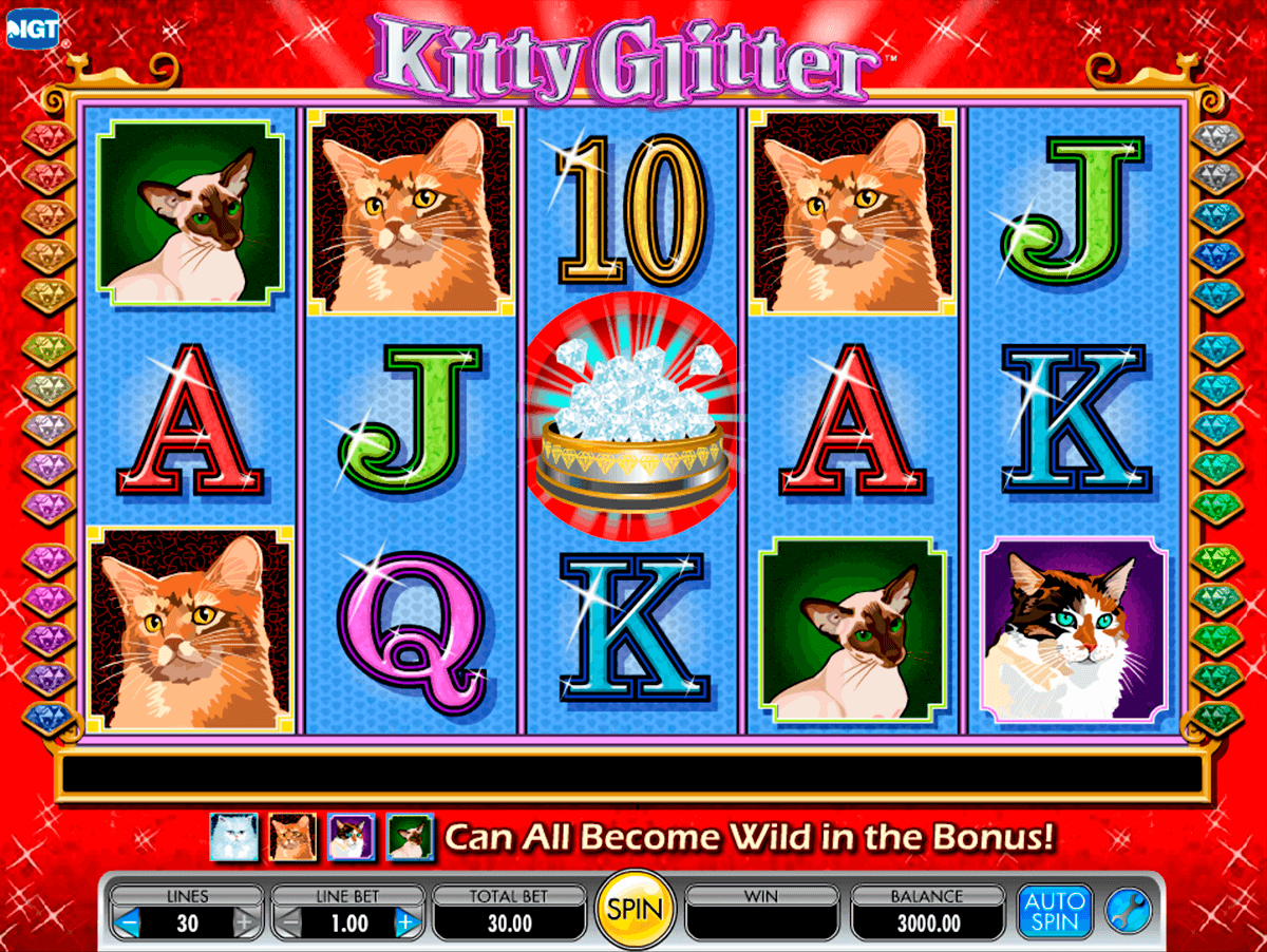 Kitty glitter igt machine a sous