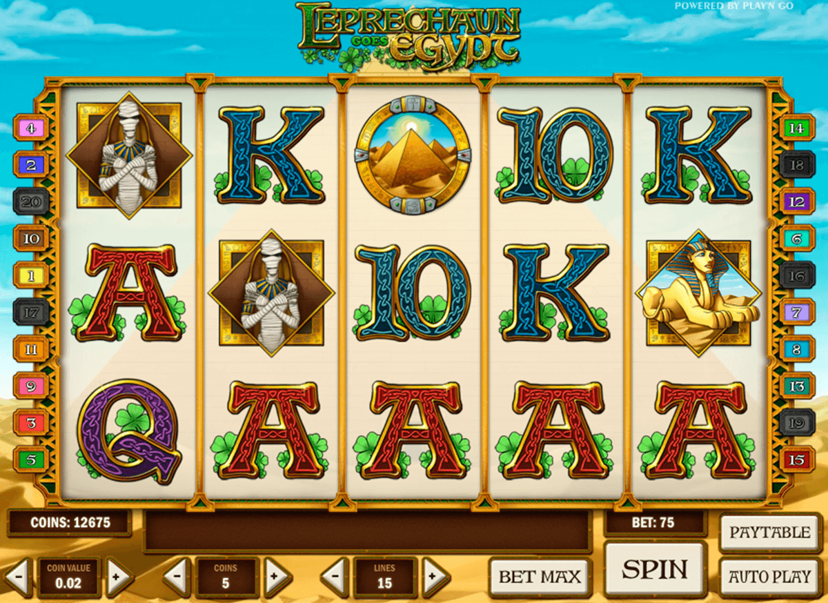 Leprechaun goes egypt playn go machine a sous