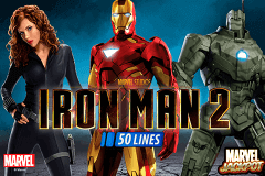 Logo iron man 2 50 lines playtech jeu casino