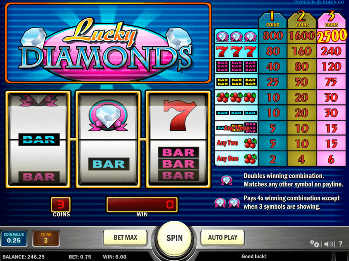Lucky diamonds playn go machine a sous