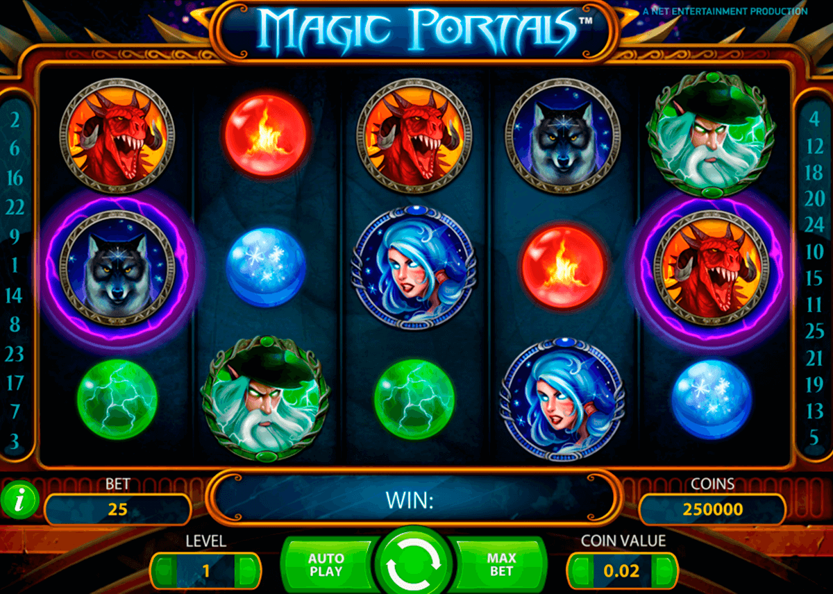magic portals netent machine a sous