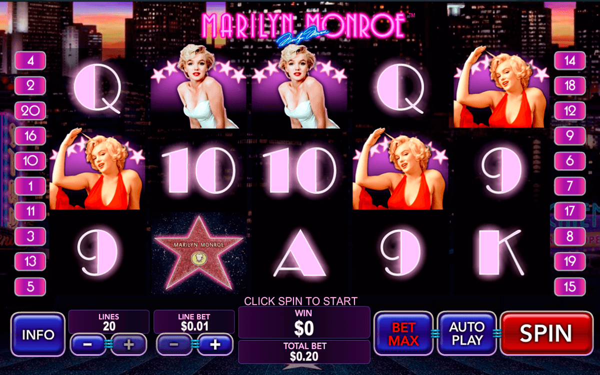 Marilyn monroe playtech machine a sous