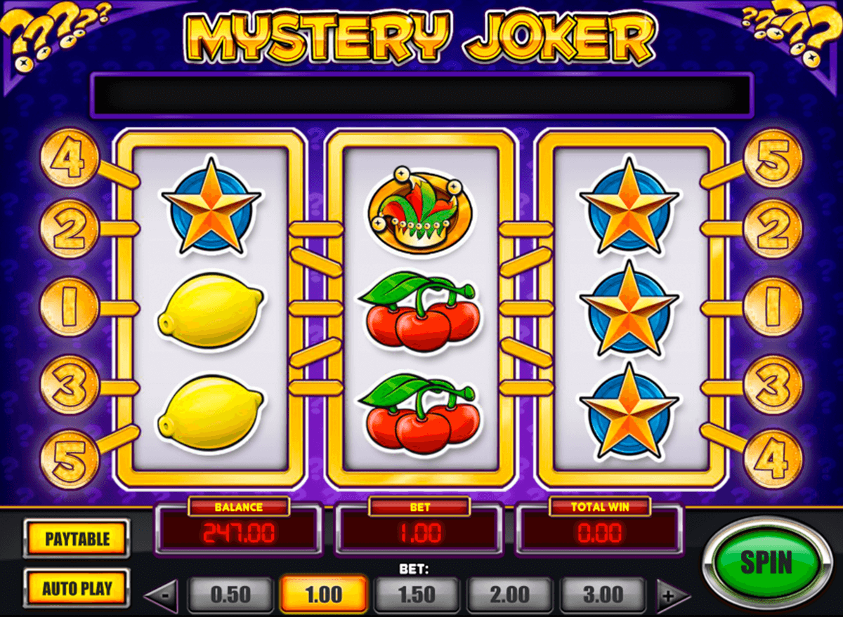mystery joker playn go machine a sous