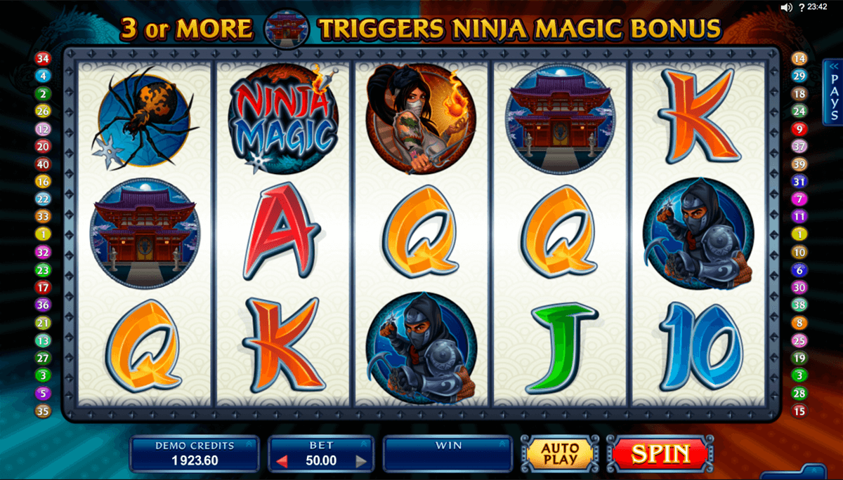 ninja magic microgaming machine a sous